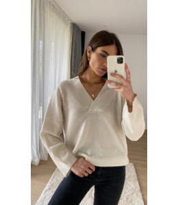 CHARLI Camaron cashmere sweater - ivory -