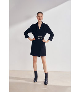 CLASH DRESS - BLACK -