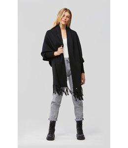 MIKU knitted scarfigan - BLACK