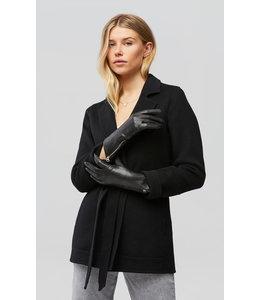 MEENA cuffed leather gloves -Black -