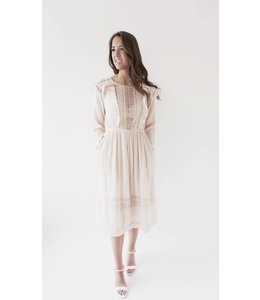 SUNCOO CARLOS DRESS - 3257 - NUDE