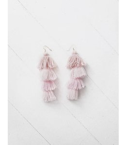 MISA TASSEL EARRINGS - ROSE OMBRE