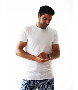 SCOTCH AND SODA CREWNECK TEE - WHITE - 657 -