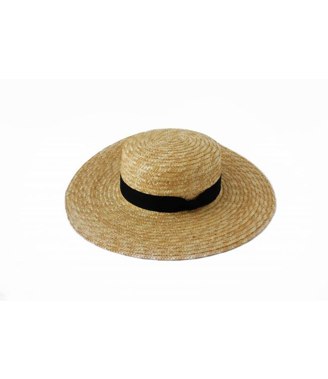 LACK OF COLOR SPENCER BOATER HAT - NATURAL STRAW