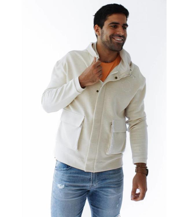 SCOTCH AND SODA HOODED SWEAT JACKET - 178 - BEIGE