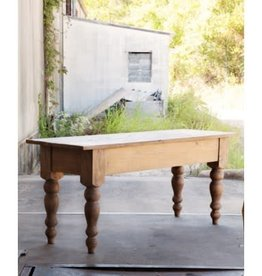 Primitive Pine Table, Natural - 72 Inch x 24 Inch x 31 Inch *RETIRED