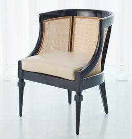 Cane Chair, Black - 24.5 Inch x 24.5 Inch x 33 Inch