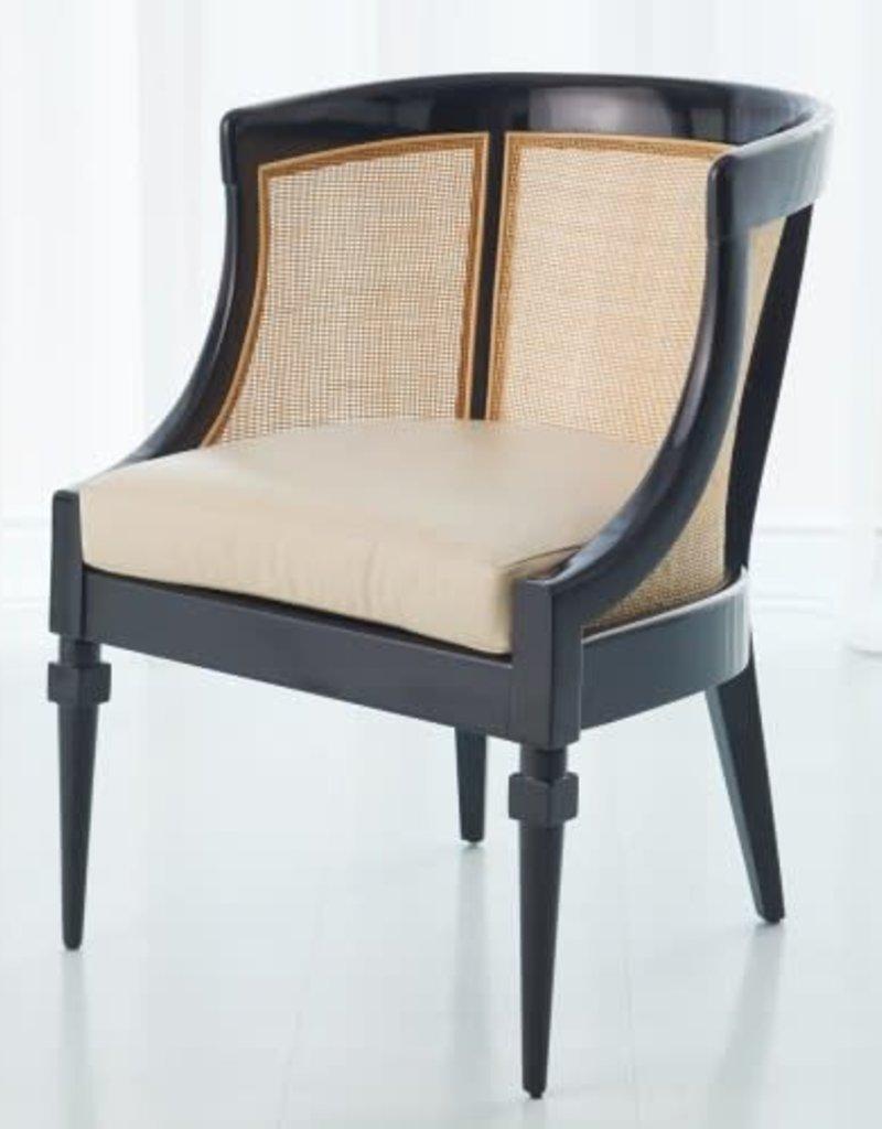 Cane Chair, Black - 24.5 Inch x 24.5 Inch x 33 Inch