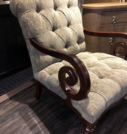 KRAVET Side Chair, Green Paisley - Floor Sample