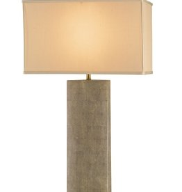 CURREY & COMPANY Rutherford Table Lamp, Beige - 19 Inch x 10 Inch x 35 inch