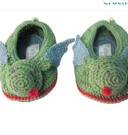 ALBETTA Crochet Dragon Booties