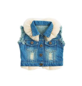 BABY Denim Vest with Tulle Blue 6-12M