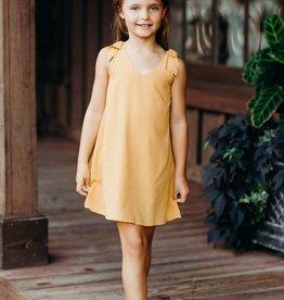 ELIZABETH CATE Bow Shoulder Dress