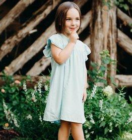 ELIZABETH CATE Double Ruffle Sleeve Dress