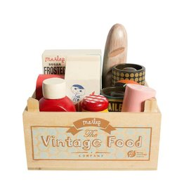 MAILEG VINTAGE FOOD IN GROCERY WOODEN BOX