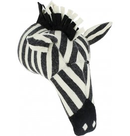 FIONA WALKER OF LONDON Large Stripe Print Zebra Head