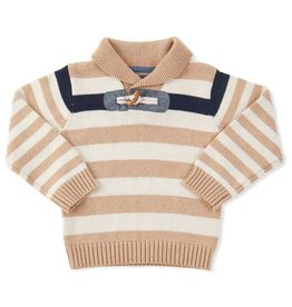 BABY Stripe Toggle Pullover Sweater NAVY 12-18M