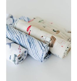 LITTLE UNICORN Swaddle Set - Shark