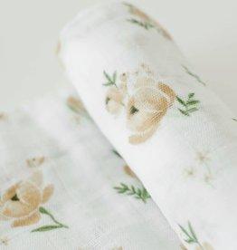 LITTLE UNICORN Cotton Muslin Swaddle Single -  Yellow Rose