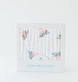 LITTLE UNICORN Cotton Muslin Quilt - Watercolor Rose