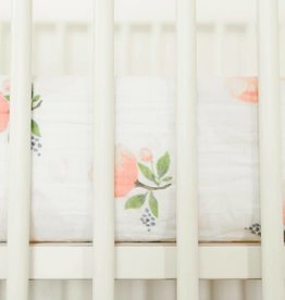 LITTLE UNICORN Cotton Muslin Crib Sheet - Watercolor Rose