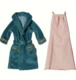 MAILEG Ginger Mum Size 1 Nightdress and Bathrobe