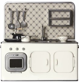MAILEG Metal Kitchen with Utensils (White)