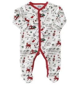 MUD PIE Very Merry Red Trim Christmas Sleeper