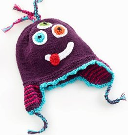 PEBBLE CHILD Silly Purple Monster Hat