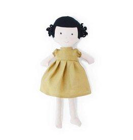 HAZEL VILLAGE Nell in Goldenrod Linen Dress