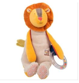 MOULIN ROTY Lion Doll with Ring Rattle - Les Papoum