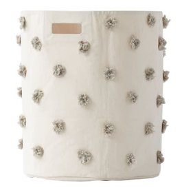PEHR Storage Hampers - Grey Pom Pom