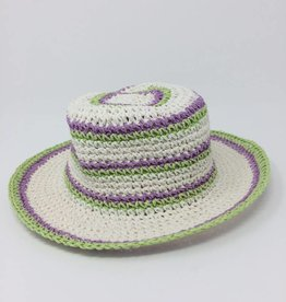 BABY Little Girls' Hat- Green and Purple