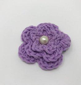 BABY Lavender Crocheted Hair Flower