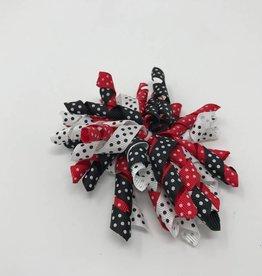 BABY Red, Black & White Mini Dot Hair Bow