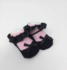 BABY Bootie - Black and Pink Mary Jane