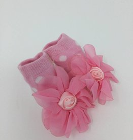 BABY Bootie - Pink Dot with Bow