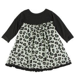 KICKEE PANTS Long Sleeve Classic Swing Dress - Cheetah Print
