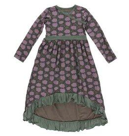 KICKEE PANTS Long Sleeve Hilo Maxi Dress - African Violets