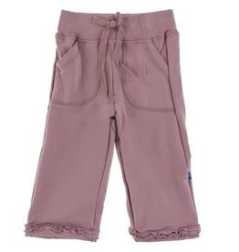 KICKEE PANTS Fleece Ruffle Sweatpant - Elderberry