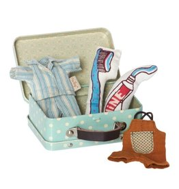 MAILEG Micro Suitcase Play Set, Bed Time
