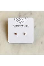 wildflower designs - 3D Cube -Stainless Steel Studs
