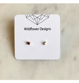wildflower designs - 3D Cube -Stainless Steel Studs