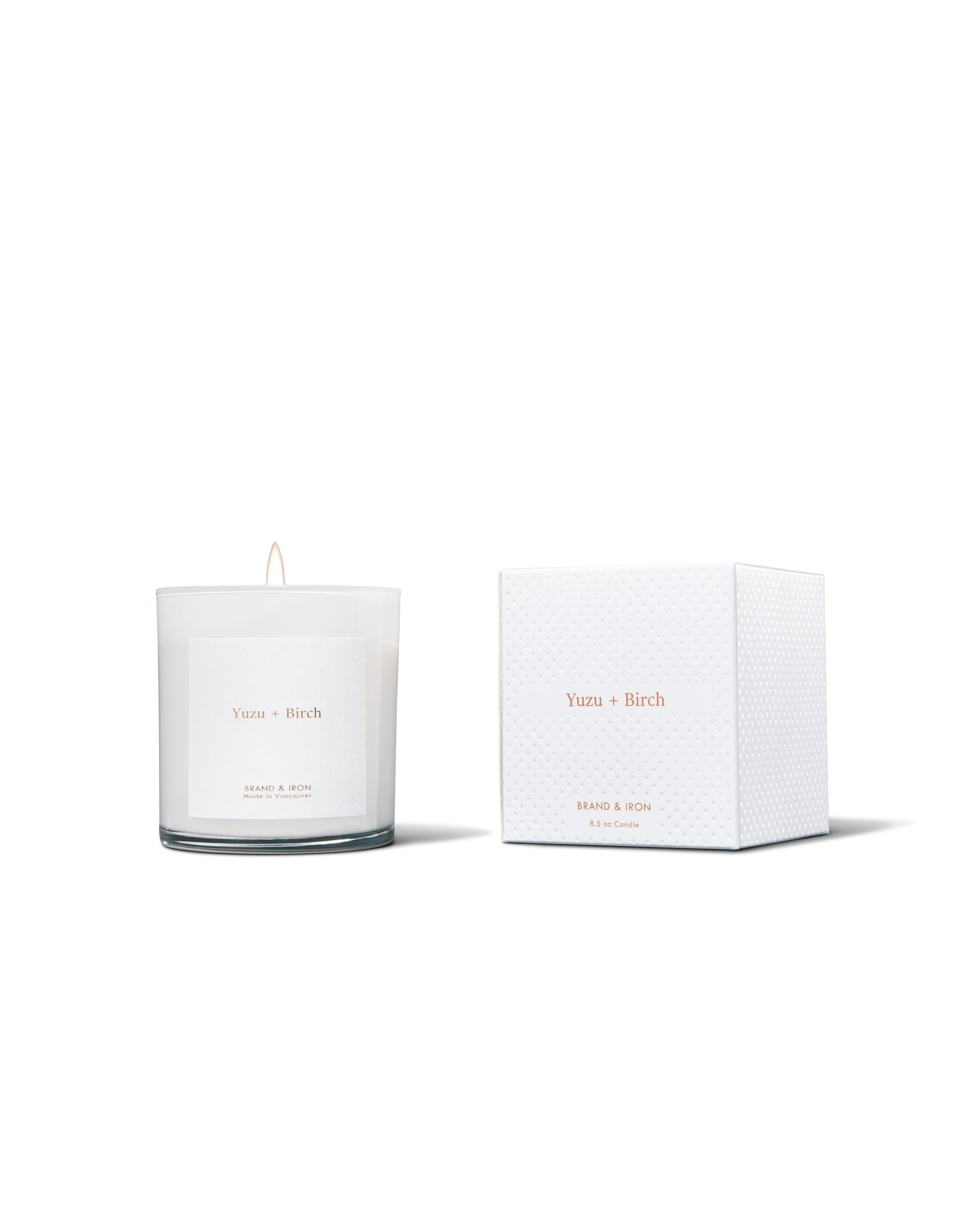 Brand & Iron - Candle - Yuzu + Birch - 9oz