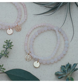 Glee Stackem Up Bracelets - Rose Quartz