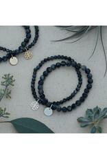 Glee Stackem Up Bracelets - Black Labradorite