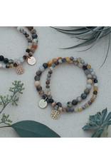 Glee - Stackem Up Bracelets - Bamboo Leaf Agate