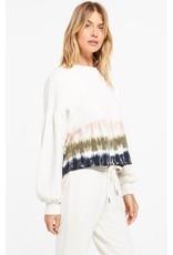Z Supply - Tempest Stripe Tie Dye Fleece Pullover