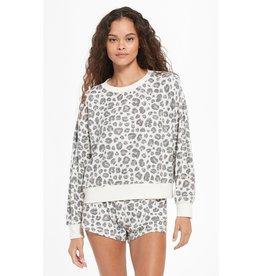 Z Supply - Elle Brushed Slub Leopard Pullover