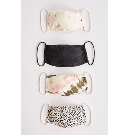 Z Supply - (4 Pack) Bolt & Tie Dye Reusable Face Mask